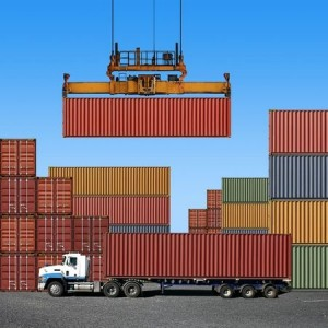 pShippingContainersAndTruck_5874354_s