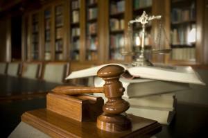 Judge's gavel, probate hearing