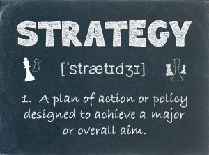 STRATEGY Definition on Blackboard (business marketing planning)