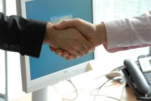handshake, business law