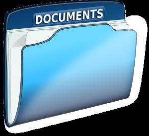 a documents folder, estate planning