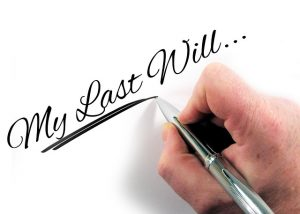 hand writing my last will, probate