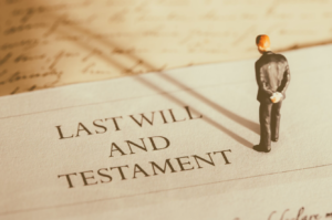 a small personal standing in a probate paper, estate planning attorney