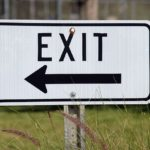 an exit sign, business attorney