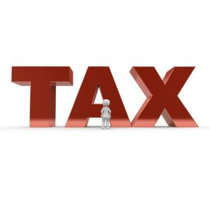 big tax sign, estate planning attorney