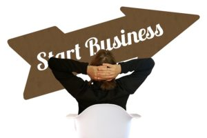 a person with start business words, business attorney