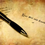 pen with a probate document
