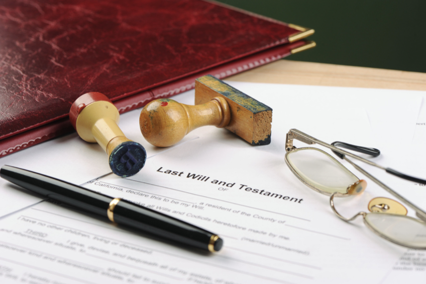 preparing a last will and testament document