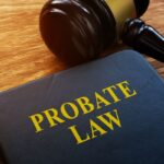 probate law book and law gavel